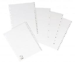 5 x Índice PP 120 micras A4 color blanco