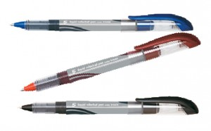 5 x Roller Tinta Líquida P. Acero Inox. Negro, azul, rojo C/12