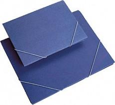 Carpetas Cartón Goma Azul