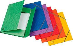 Carpetas Cartón Goma de Colores
