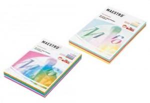 Papel A4 color pastel y color fuerte Maestro